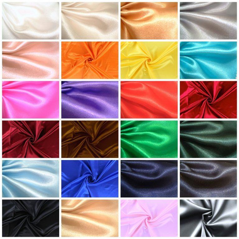 Satin-Stoffe-Stoff-Dekostoff-Kleidung-Hochzeit-Vorhang-Karneval 01