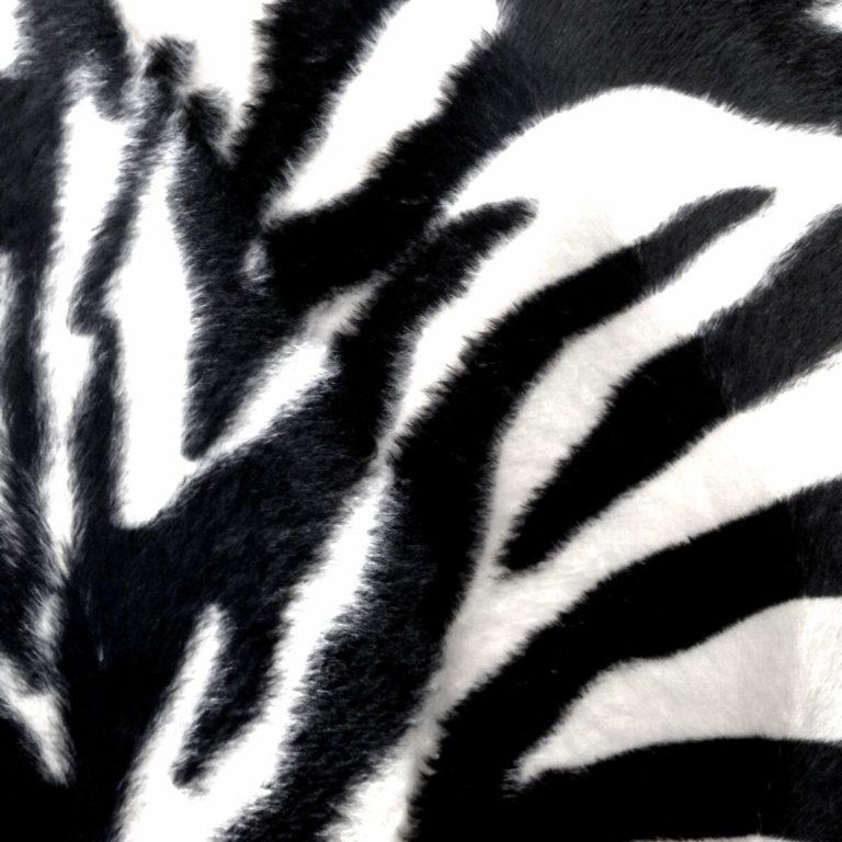 Stoff-Tierfell-Fellimitat-Kunstfell-Kurzhaar-Webpelz-Meterware-Zebra-Animalprint 03